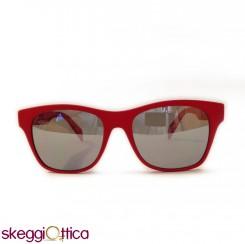 Occhiali da sole unisex sportivo rosso acetato lenti flash adidas by italia independent