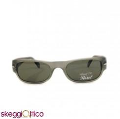 Occhiali da Sole unisex grigio verde lenti in cristallo opaco acetato  Vintage persol