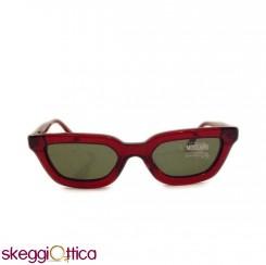 Occhiali da Sole donna rosso acetato  Vintage moschino