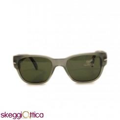 Occhiali da Sole unisex lenti in cristallo grigio verde acetato Vintage persol