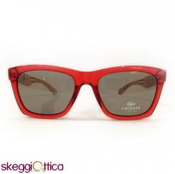 Occhiali da Sole unisex acetato rosso bicolore lacoste