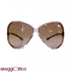 Occhiali da Sole donna acetato trasparente marrone Vintage tom ford