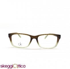 Occhiali da Vista unisex acetato verde oliva bicolore Ck Calvin Klein