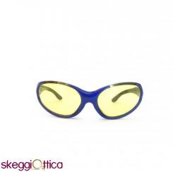 Occhiali da sole unisex acetato blu sportivo smith
