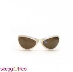 Occhiali da sole unisex bianco perla acetato smith