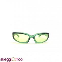 Occhiali da sole unisex sportivo acetato verde enox