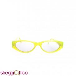 Occhiali da vista donna acetato giallo glitter fluo