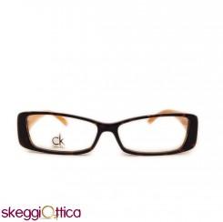 Occhiali da Vista donna acetato bicolore arancione tartarugato ck calvin klein