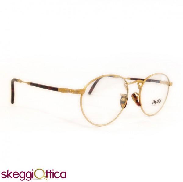 Occhiali da vista unisex metallo dorato vintage boss hugo for Occhiali tondi da vista vintage