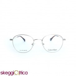 Occhiali da vista unisex metallo argenato ti.flex Calvin Klein