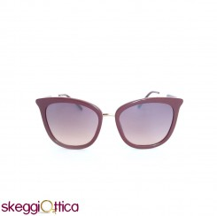Occhiali da sole donna acetato bordeaux lenti flash CK Calvin Klein