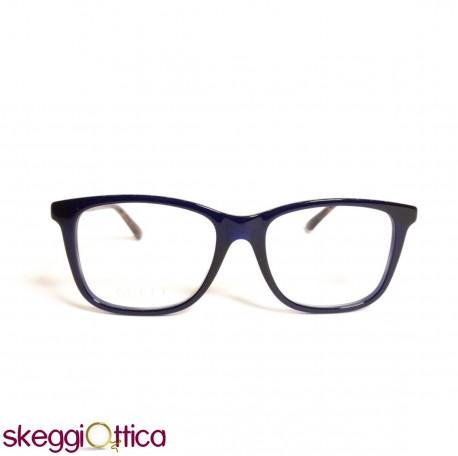in vendita 971d8 2f2bd Occhiali da vista unisex acetato blu bicolore Gucci