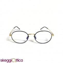 Occhiali da vista unisex nero oro metallo bicolore Italia Independent
