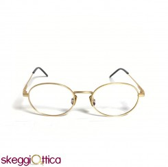 Occhiali da vista unisex oro metallo ovale Italia Independent