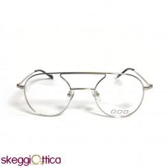 Occhiali da vista unisex metallo tondo argento NoLogo