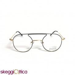 Occhiali da vista unisex nero oro nyolr tondo metallo NoLogo