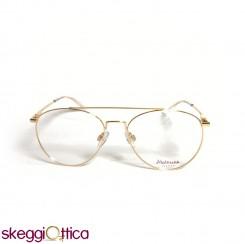 Occhiali da vista unisex metallo oro goccia Hickmann