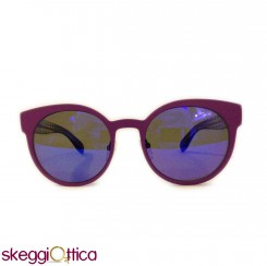Occhiali da sole donna metallo viola lenti flash pois bicolore marc by marc jacobs